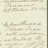 Robert Gardiner to Jane Porter, autograph letter signed