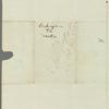 James Silk Buckingham to Jane Porter, autograph letter third person