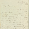James Silk Buckingham to Jane Porter, autograph letter signed