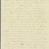 Lady Anne Hamilton to Miss Porter, autograph letter signed