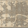 Reynolds' map of modern London divided into quarter miles sections for measuring distance