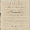 Une sonate pour le piano forte avec accompagnement d'un violon ou d'une flute, op. 12