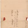 Appleton, Nathaniel, addressed to Mr. Abraham Yates Junr., Commisr. of Loans N. York, Albany