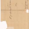 Yates, Abraham Junr., addressed to Abm. G. Lansing, Post Master, Albany