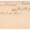 Receipt for India rum bought by Hugh O'Hara