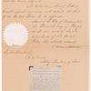 Document pardoning G. P. Ballard and G. W. Dant for selling spirits