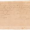 Order for whiskey for Anthony Wayne's troops
