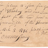 Four orders on the commissary at Greenville for whiskey, etc. for the Shawnee and Miami Indians