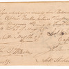Order for whiskey for Captain Van Rensselaer's Troop of Light Dragoons