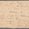 Order for whiskey signed by Zebulon Pike as Captain of Commissary
