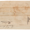 Order for whiskey at Greenville signed by William Henry Harrison