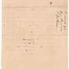 Draft of order at Greenville regarding unlicensed trade with the Indians by James Fisher
