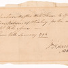 Order for whiskey signed by William Henry Harrison