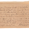 License to sell rum and other distilled spirits granted to Thomas Cutt of Biddelford in the County of York