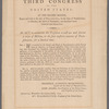 Broadside of the Third Congress of the U. S. granting the President power to suppress the Whiskey Rebellion