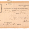 Certificate for importation of claret by the collector of customs at Boston