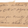 Order for rum by Lieutenant William White at Fort Washington