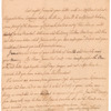 Letter of Thomas Penn, concerning the estate of his father, William Penn, and mentioning disposal of rum