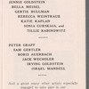 Jennie Goldstein's Prospect Theater: Calendar 1933-1934