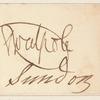 Horace Walpole clipped autograph