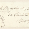 William Alexander Duer envelope addressed to E.A. Duyckinck