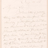 Fitz-Greene Halleck letter to William L. Anthony (?)