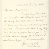 Francis L. Hawks letter to E.A. Duyckinck