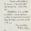R. Cary Long letter to E.A. Duyckinck