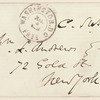 Charles A. Sumner signed envelope addressed to W.L. Andrews