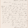 George Livermore letter