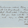Charles A. Lanman letter to E.A. Duyckinck