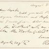 Richard Henry Stoddard letter to E.A. Duyckinck