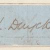Clipped autograph