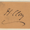 Henry Clay clipped autograph