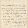 Richard Henry Dana letter to E.A. Duyckinck