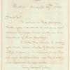 Charles Sprague letter to E.A. Duyckinck