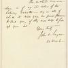 John Osborne Sargent letter to E.A. Duyckinck