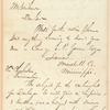 Donald G. Mitchell letter to Mr. Scribner