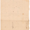 Letter to Josiah Williams