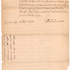 Letter from Thomas Hutchinson to the Massachusetts House of Representatives