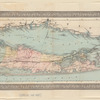 Travellers map of Long Island