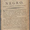 An authentic account of the conversion and experience of a Negro