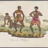 Images of ethnic dancing from illustrated books and series