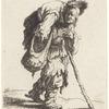 A hunchbacked beggar