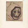 Une de Vingt masques grotesques et deux tetes de mort