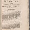 Mémoire sur l'esclavage des Negres