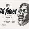 Broadside or program for Paul Peters' production of Nat Turner