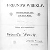 Freund's weekly, Vol. 1, no. 2