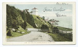 Old Fort and Harbor, Mackinac Island, Mich.