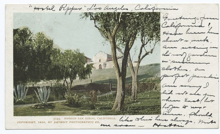 This is What San Diego Mission Looked Like  in 1900